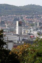 Stuttgart  Deutschland  Rathausturm am Marktplatz