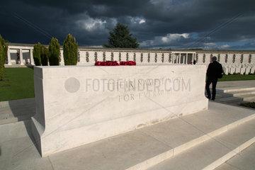 Zonnebeke  Belgien  der britische Soldatenfriedhof Tyne Cot