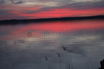 Abendroete am Starnberger See