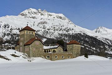 Schloss Crap da Sass  Surlej  Engadin  Graubuenden  Schweiz