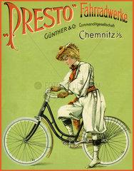 Presto Fahrradwerke  Chemnitz  Werbung  1899