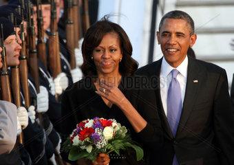 Berlin  Deutschland  Ankunft des US-Praesidenten Barack Obama in Berlin
