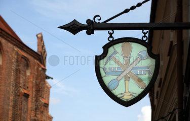 Stendal  Wappen des Glaserhandwerks