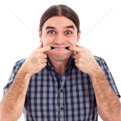 Man making funny face