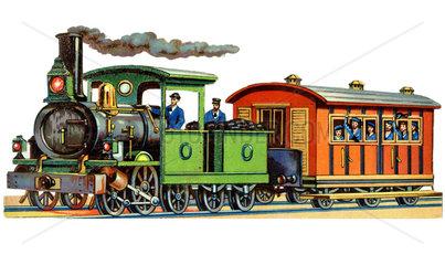 Eisenbahn  Dampflok  1870