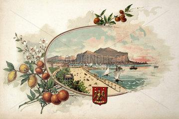 Palermo  historische Ansichtskarte  1899
