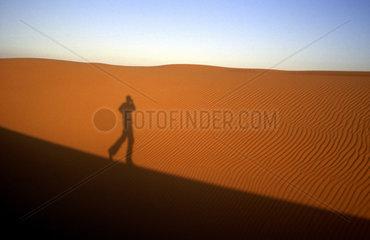 Sandduenen im Erg Djourab  Tschad  Zentralsahara