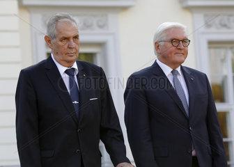 Schloss Bellevue Treffen Steinmeier Zeman