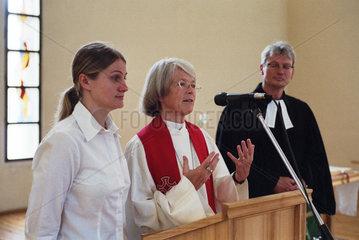 Deutscher Gottesdienst in der Auferstehungskirche  Kaliningrad  Russland