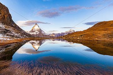 Riffelsee  Matterhorn  Zermatt  Wallis