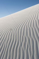 Rippled sand dune  White Sands National Monument  New Mexico  USA