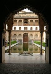 Detail in der Alhambra im andalusischen Granada