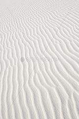 Rippled white sand  full frame