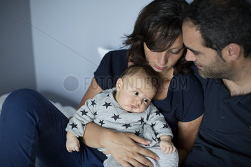 Parents with baby boy