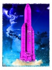 Rakete Raketenstart Farbig