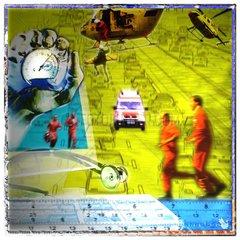 Notfall Hubschrauber Notdienst Rettungseinsatz Medizin Krankenwagen Stopuhr