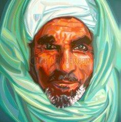 Afghane Serie Gesichter der Erde Mann