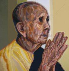 BETENDE Serie Gesichter der Erde Asien Buddhistin