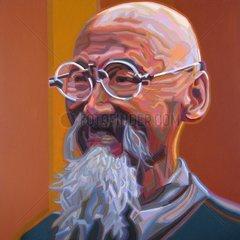 CHINA Serie Gesichter der Erde Chinese Alter Mann