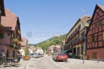 Haeuser in der Altstadt von Ribeauville