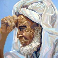 ARABER Serie Gesichter der Erde Alter Mann Beduine