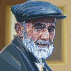 TUERKEI Serie Gesichter der Welt Tuerke alter Mann