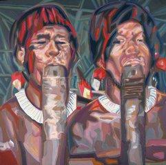 URWALD Serie Gesichter der Welt Brasilien Ureinwohner