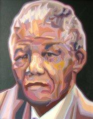 Serie PORTRAIT Nelson MANDELA Politiker Buergerrechtler Praesident Suedafri