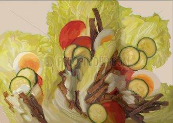 RINDFLEISCHSALAT 2 Serie Food Essen