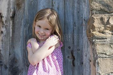 Little girl smiling  portrait