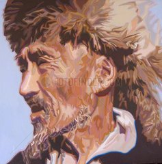 KIRGIESE Serie Gesichter der Erde Kirgisien Asien Mann