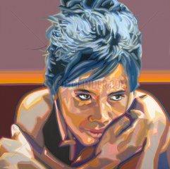 THAI Thailaenderin Frau Serie Gesichter der Erde