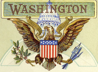 US-Siegel  Hoheitssymbol  Illustration  Washington  1899