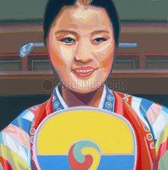 KOREANERIN Serie Gesichter der Erde