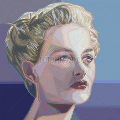 SCHWEDEN Frau Serie Gesichter der Erde