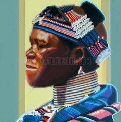 NDEBELE Suedafrika Serie Gesichter der Erde