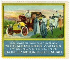 Werbung fuer Mercedes  1912