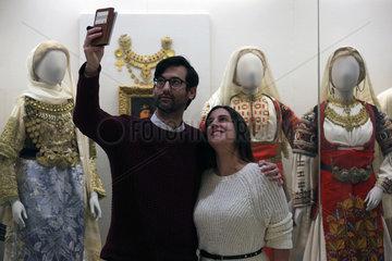 GREECE-ATHENS-MUSEUM-TAKING SELFIES