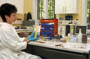Berlin  Deutschland  Impfoesen im Labor