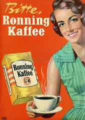 Ronning Kaffee  Werbung  1955
