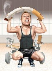 Gesundheit Fitness Raucher rauchen Mann Medizin