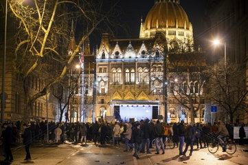 Schuelerprotest gegen die Ungarische Regierung