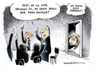 Karikatur Kanzlerfrage