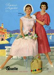 Sommermode  Quelle-Versand  Prospekt  1958