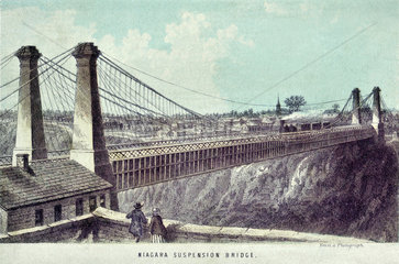 Niagara Falls Supension Bridge  1857
