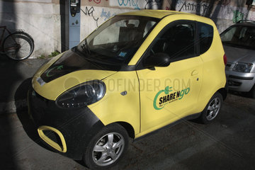 Elektroauto car sharing in Rom