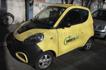 Elektroauto car sharing in Rom