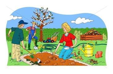 Garten Natur Jahreszeiten