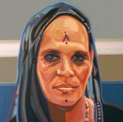 AEGYPTEN Frau Gesichter der Erde