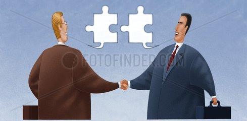 Business Interkulturell Einigung